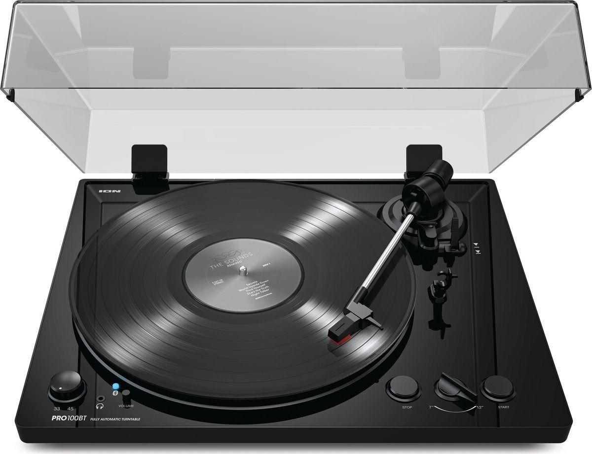 ION Audio PRO 100BT, Black виниловый проигрыватель shinco shinco dvp 739 dvd проигрыватель vcd проигрыватель hdmi hd проигрыватель hd проигрыватель cd проигрыватель тигр проигрыватель дисков