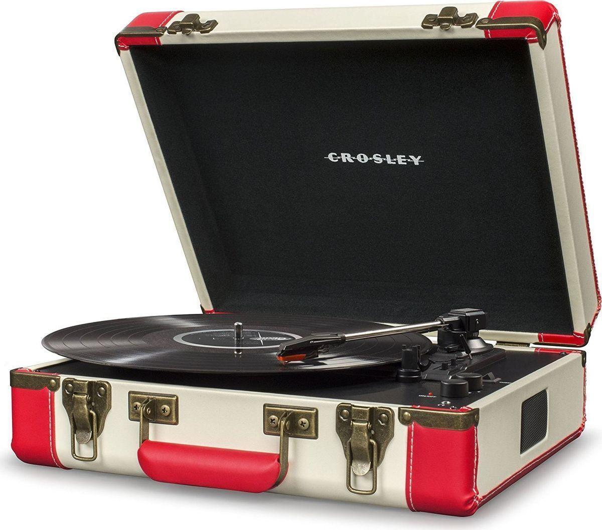 Фото Crosley Executive Deluxe, Red Black виниловый проигрыватель сменный стилус crosley np6