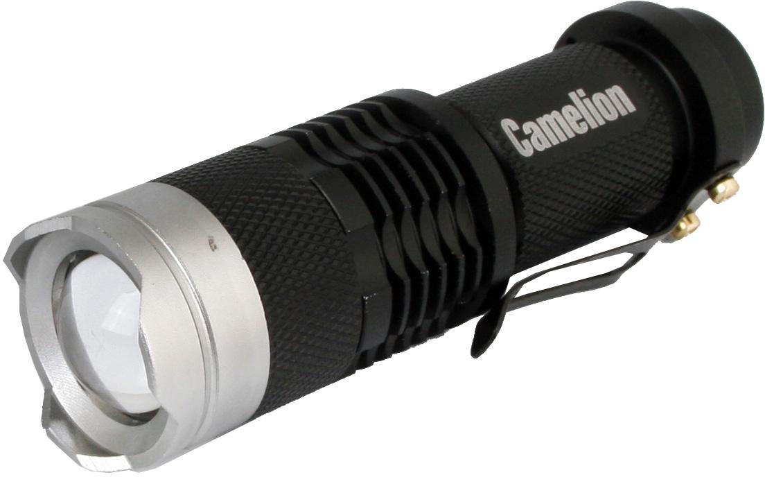 Фонарь ручной Camelion LED5135, цвет: черный, серый металлик фонарь maglite led светодиод 2d синий 25 см в картонной коробке 947233