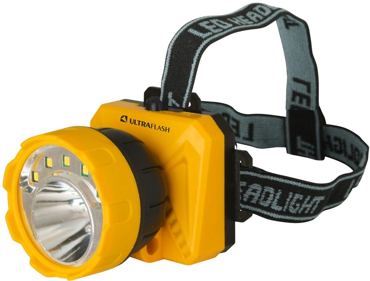 Фонарь налобный Camelion Ultraflash LED5372, цвет: желтый, черный