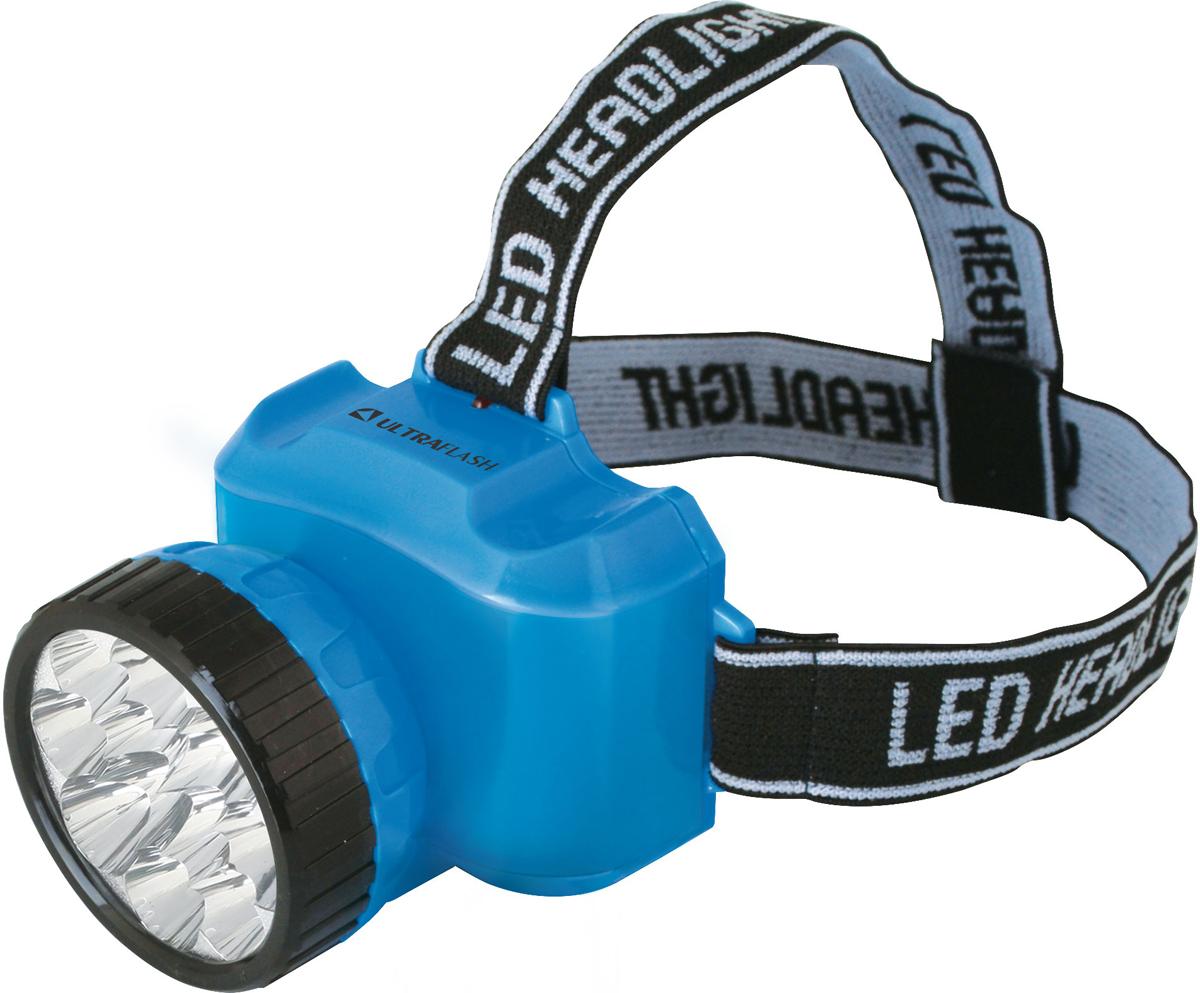 Фонарь налобный Camelion Ultraflash LED5361, цвет: голубой, черный