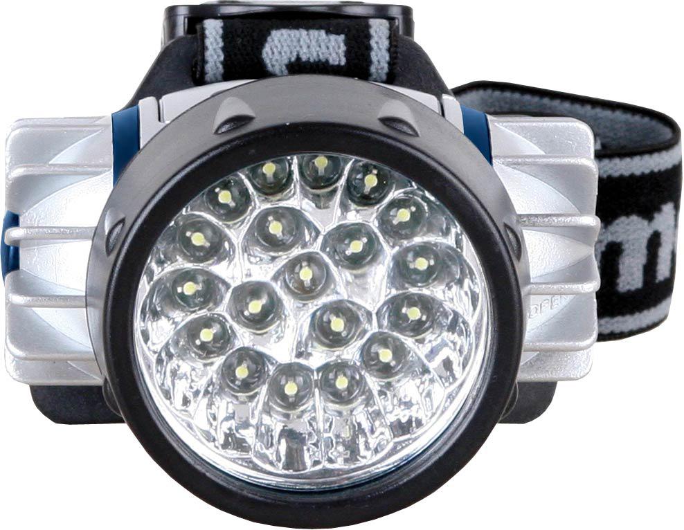 Фонарь налобный Camelion LED5323-19Mx, цвет: серебристый фонарь maglite led светодиод 2d синий 25 см в картонной коробке 947233
