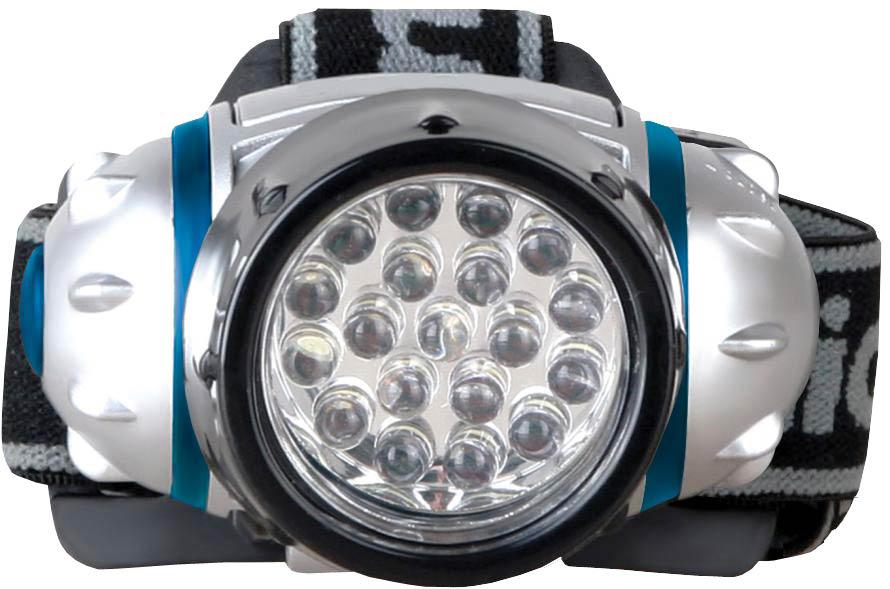 Фонарь налобный Camelion LED5313-19F4, цвет: серебристый фонарь maglite 2d синий 25 см в картонной коробке 947191
