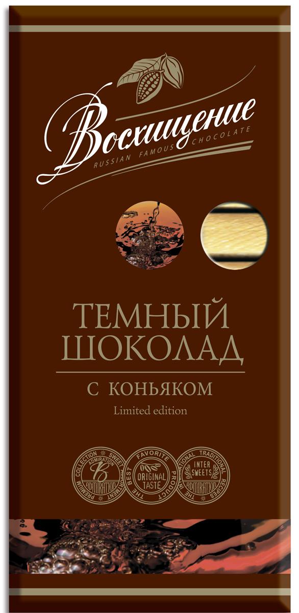 Восхищение шоколад в стиках темный с коньяком, 140 г baron тирамису темный шоколад с начинкой 100 г