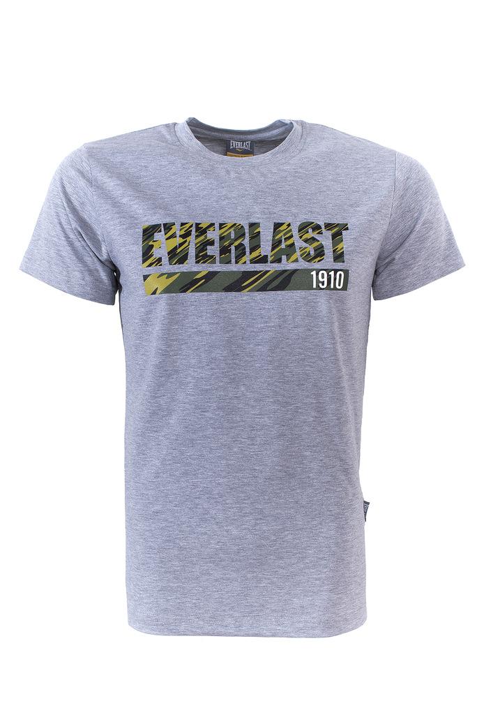 Футболка мужская Everlast Camouflage, цвет: серый. RE0032. Размер XXL (54/56) футболка мужская mitre цвет желтый tt29019 размер xxl 54 56