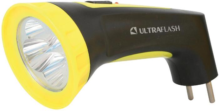 Фонарь ручной Camelion Ultraflash LED3804M, цвет: черный, желтый