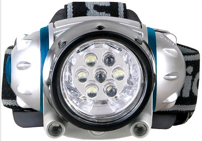 Фонарь налобный Camelion LED5310-7F3, цвет: серебристый фонарь maglite led светодиод 2d серебристый 25 см в картонной коробке 947232