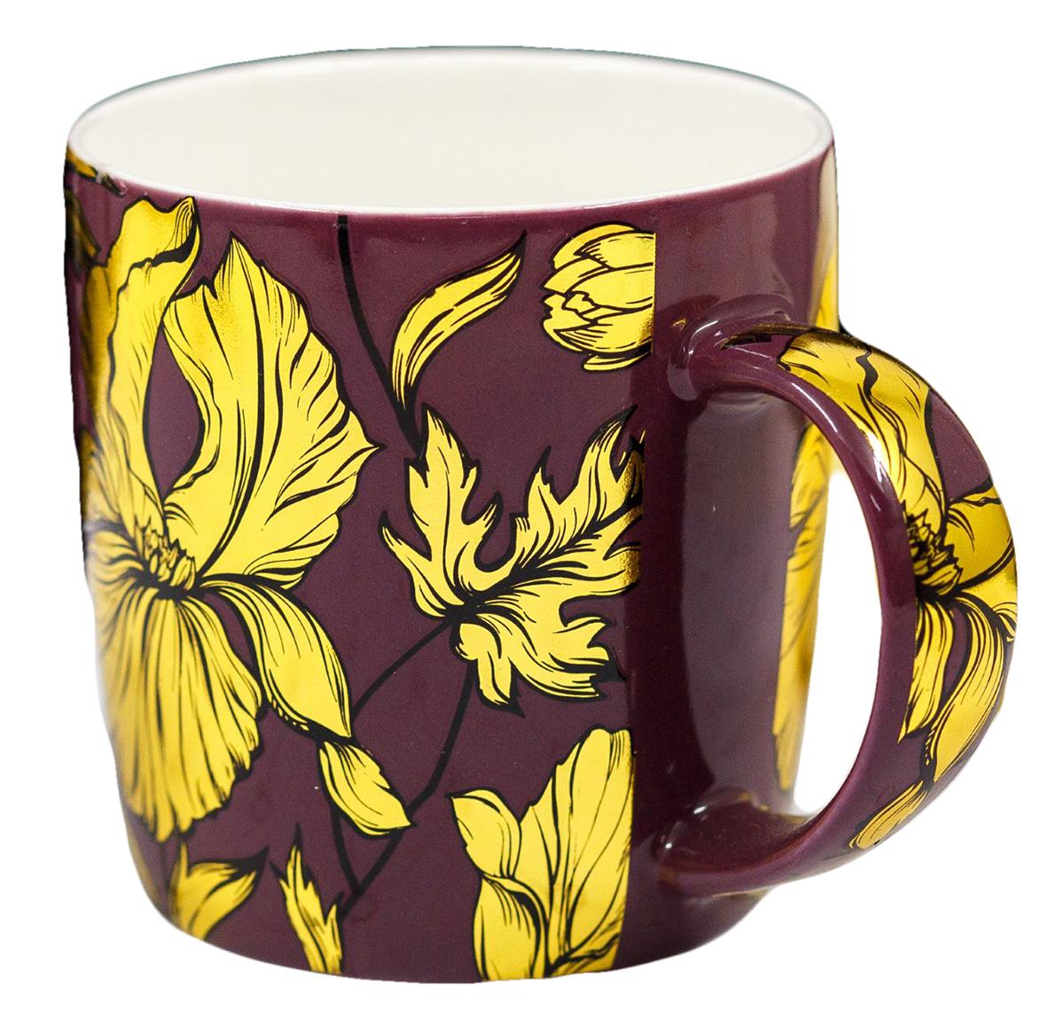 Кружка Цветы, цвет: фиолетовый, 350 мл1996467Яркая кружка сделает чаепитие по-настоящему приятным. Она с любовью создана нашими дизайнерами специально для ценителей этого напитка. Интересный дизайн и благородные цвета будут радовать её обладателя долгие годы. Радуйте себя каждый день, ведь жизнь состоит из таких приятных мелочей! Внимание: не помещать в микроволновую печь и посудомоечную машину.