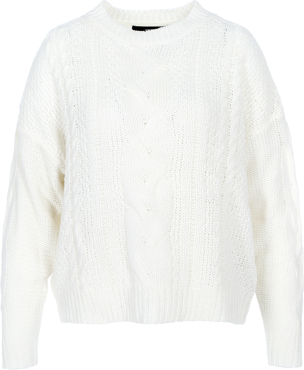 Джемпер женский Vero Moda, цвет: молочный. 10189425_Pristine. Размер M (44) джемпер vero moda цвет белый