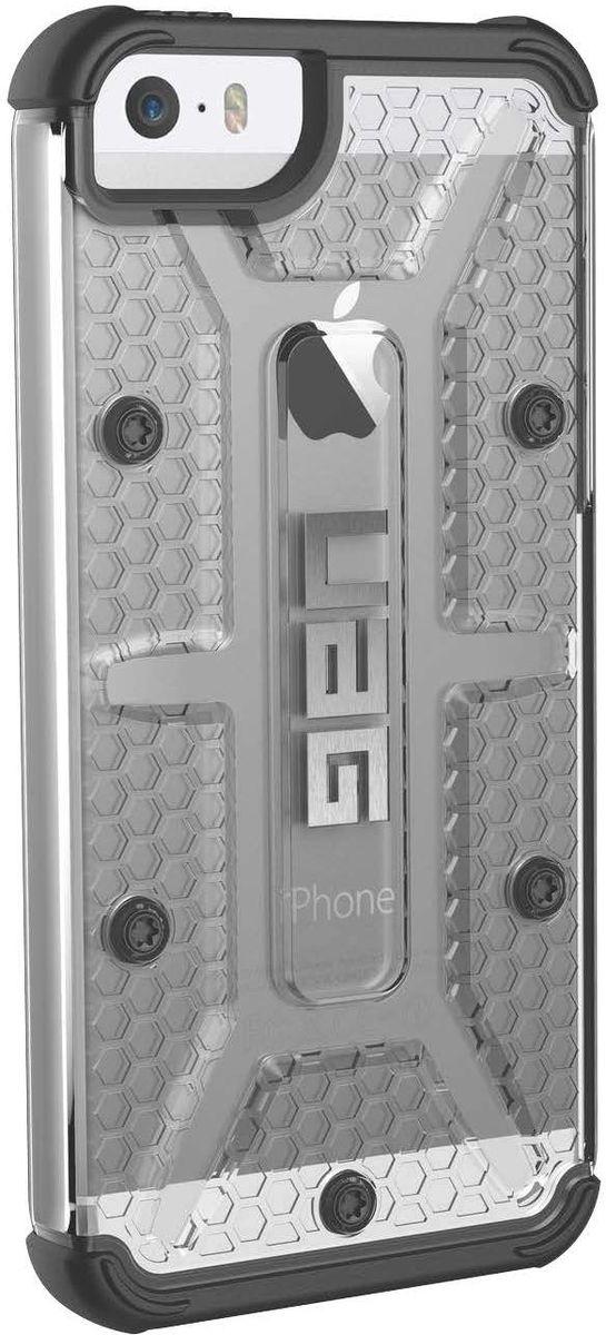 UAG Compasite чехол для Apple iPhone 5/5SE, GreyIPH5S/SE-ICEСпециальный защитный чехол для iPhone подойдет для людей, которые хотят получить максимальную защиту для своего устройства. Чехол изготовлен изсовременных, легких ипрочных материалов, сможет надежно защитить смартфон отцарапин, потертостей иударов.Аглавное имеет защиту при падении всоответствии своенным стандартом MILSTD 810G 516.6.
