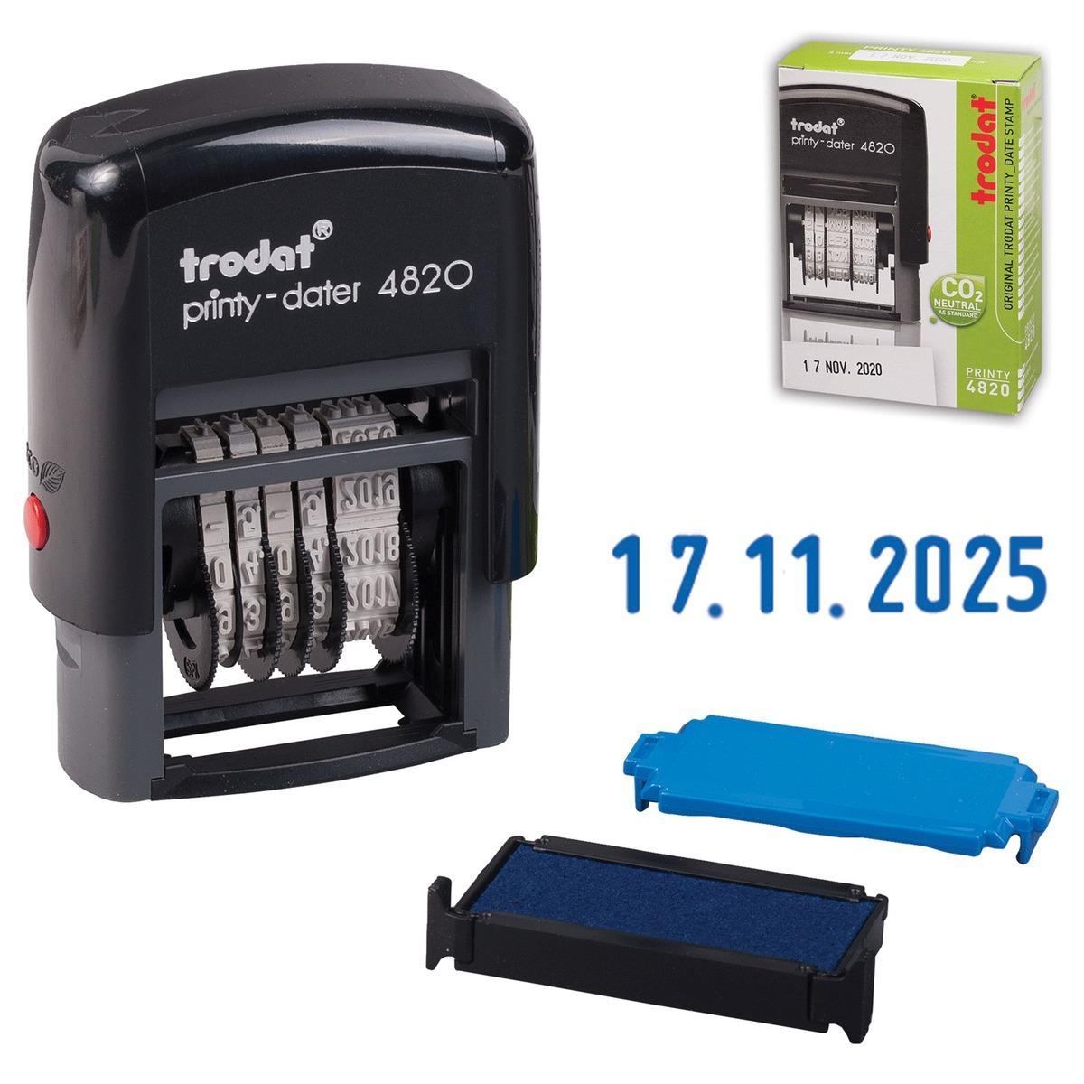 Trodat Датер мини месяц цифрами 22 х 4 мм82498Мини-датер проставляет оттиск даты с указанием месяца цифрами. Дата меняется вращением колесика. Часто используется для маркировки документов и сроков изготовления на товарах.