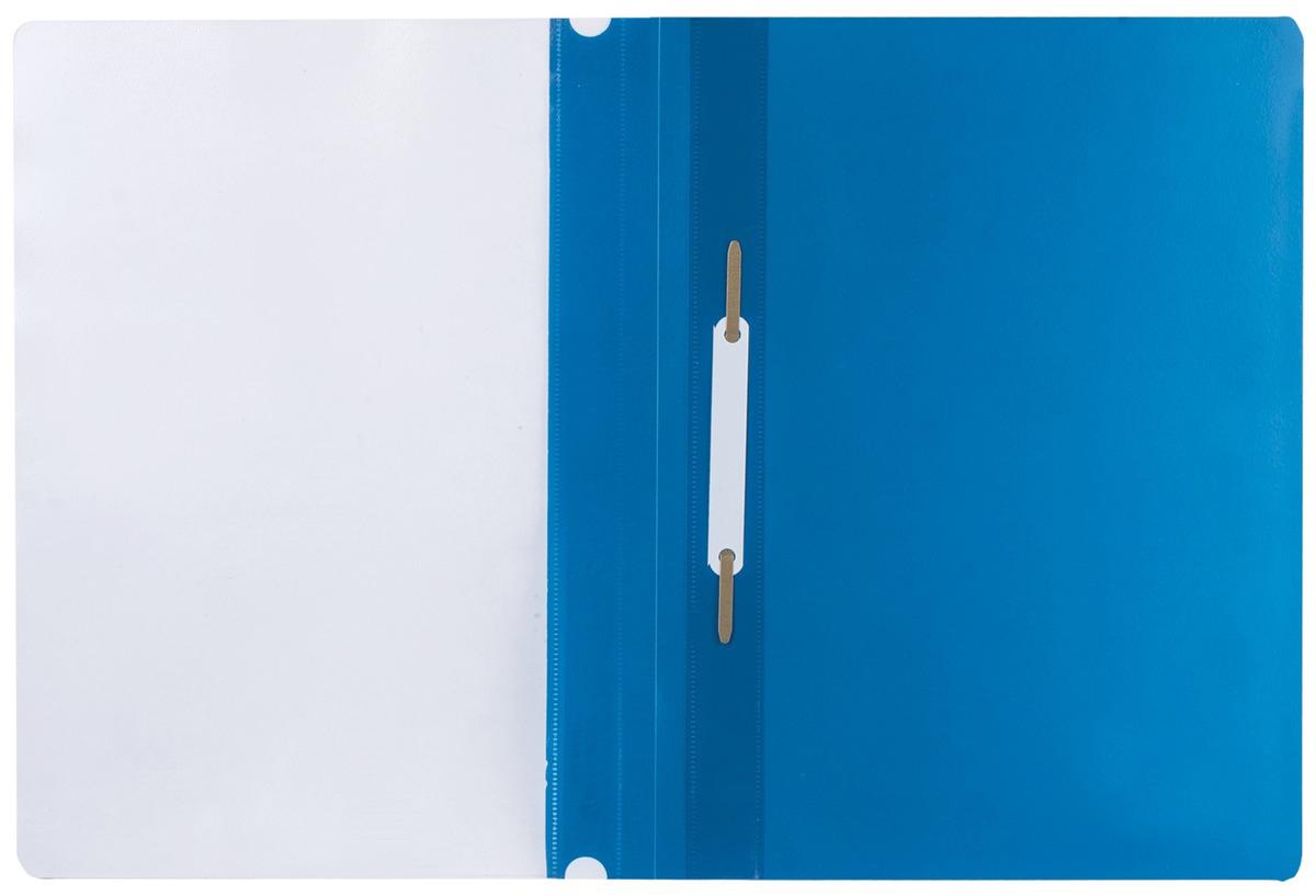 Brauberg Папка-скоросшиватель А4 цвет синий 220385220385Классический мягкий пластиковый скоросшиватель. Предельно простой механизм подшивки: металлические усики и пластиковая планка длянадежной фиксации документов. Снабжен прозрачным верхним листом. Для идентификации имеет сменный пластиковый корешок. Толщина пластика - 0,18 мм. Плотность прозрачного листа - 130 мкм, Плотность листа синего цвета - 180 мкм. Фиксирует до 100 листов.