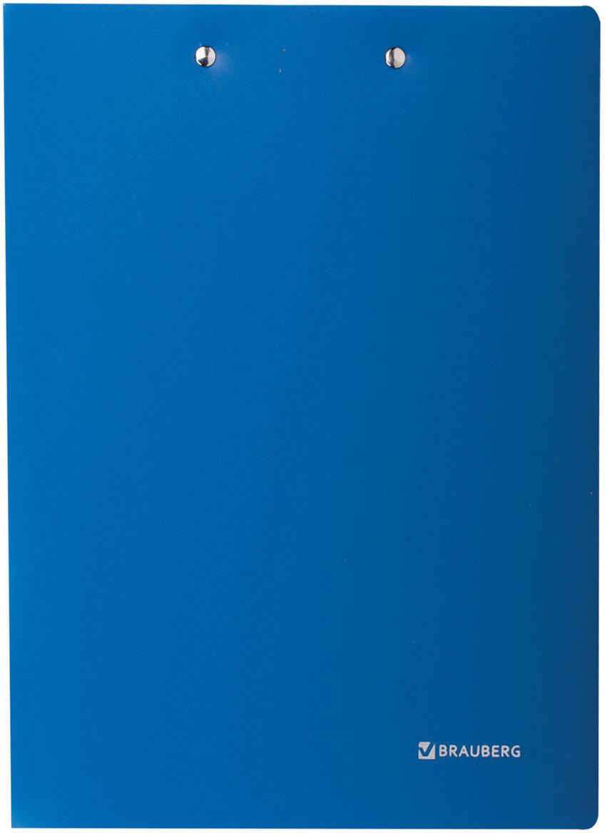 Brauberg Папка Стандарт цвет синий 221625221625Предназначена для хранения документов. Металлический прижим позволяет подшивать документы, не перфорируя их дыроколом. Изготовлена из плотного непрозрачного пластика.