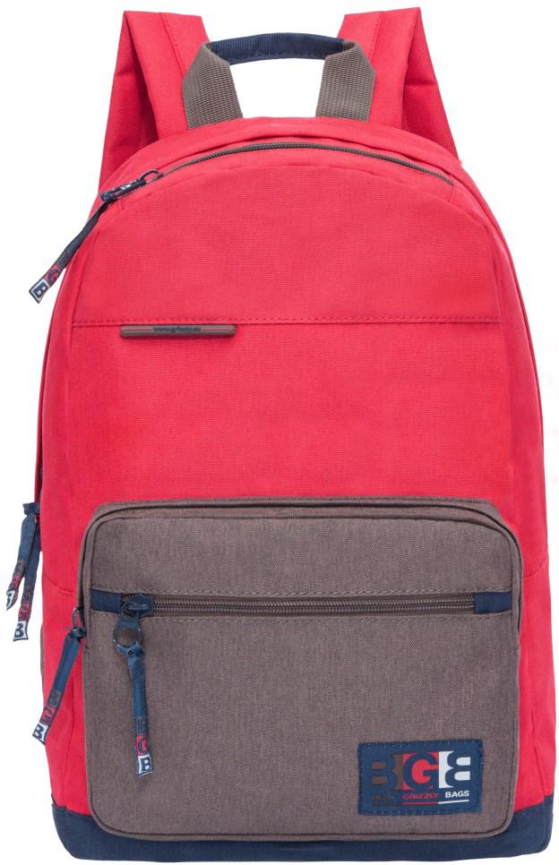 Рюкзак городской Grizzly, цвет: красный. RL-856-1/3RL-856-1/3Рюкзак молодежный, одно отделение, карман на молнии на передней стенке, объемный карман на молнии на передней стенке, внутренний карман для электронных устройств, укрепленная спинка, карман быстрого доступа в верхней части рюкзака, дополнительная ручка-петля, укрепленные лямки.