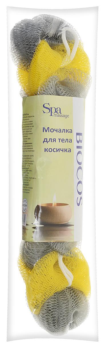 BioCos Мочалка для тела Косичка, цвет: серый, желтый5955_сеоый желтыйМочалка для тела BioCos Косичка обладает тонизирующим эффектом. Подходит для ежедневного применения. Деликатно и нежно очищает кожу, легко вспенивает даже небольшое количество геля или мыла. Обладает приятным отшелушивающим эффектом, мочалка массирует кожу, снимая усталость и напряжение. Служит долго, сохраняя свою первоначальную форму.Перед использованием размочить в горячей воде. После применения тщательно промыть под струей воды и высушить.Состав: безузловая сетка.
