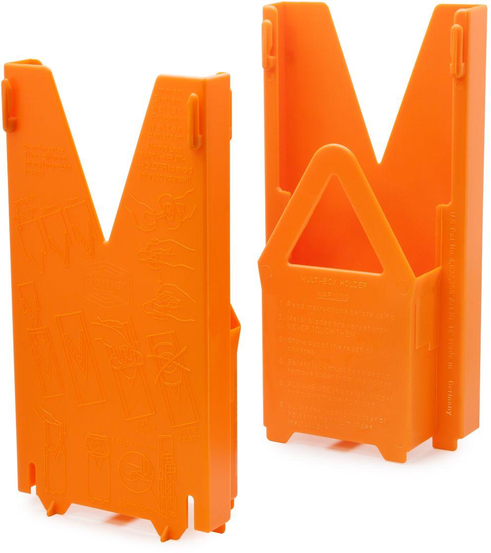 Мультибокс для комплекта овощерезки модели Классика Borner, цвет: оранжевый117/0Мультибокс этой модели подходит только для овощерезки «Классика». Он создан для удобного и безопасного хранения комплекта из 5-ти предметов: основной рамы, трёх вставок с очень острыми ножами и плододержателя. Овощерезку в мультибоксе можно поставить на стол или повесить на стену, и ваша любимая тёрка будет у вас всегда под руками, притом в полной сохранности. Мультибокс имеет стоп-фиксатор, не позволяющий маленькому ребенку вытащить из него основную раму с острыми ножами.
