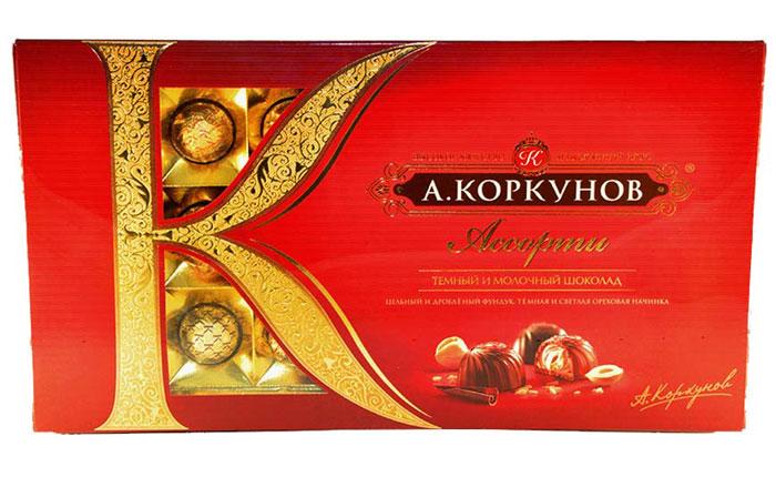 Коркунов Ассорти конфеты темный и молочный шоколад, 192 г hsu fu chi 250g 68