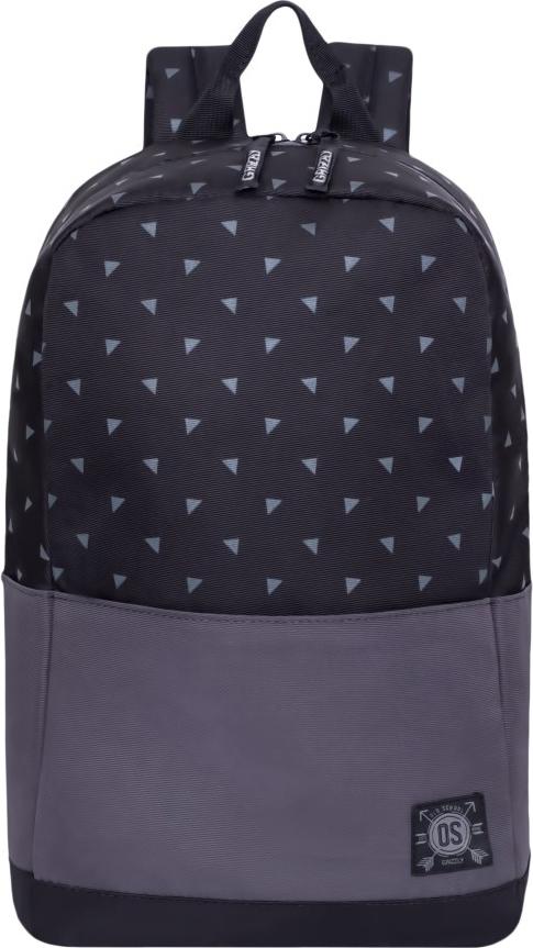 Рюкзак городской Grizzly, цвет: черный, серый. RL-852-2/1RL-852-2/1Рюкзак молодежный, одно отделение, карман на молнии на передней стенке, боковые карманы, внутренний карман для электронных устройств, укрепленная спинка, карман быстрого доступа на задней стенке, дополнительная ручка-петля, укрепленные лямки.