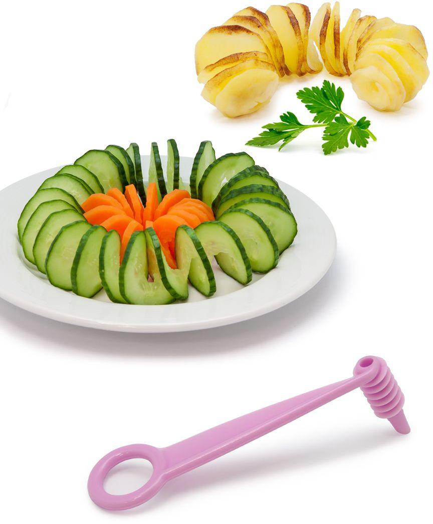 Нож-декоратор Borner для спиральной нарезки, цвет: сиреневый