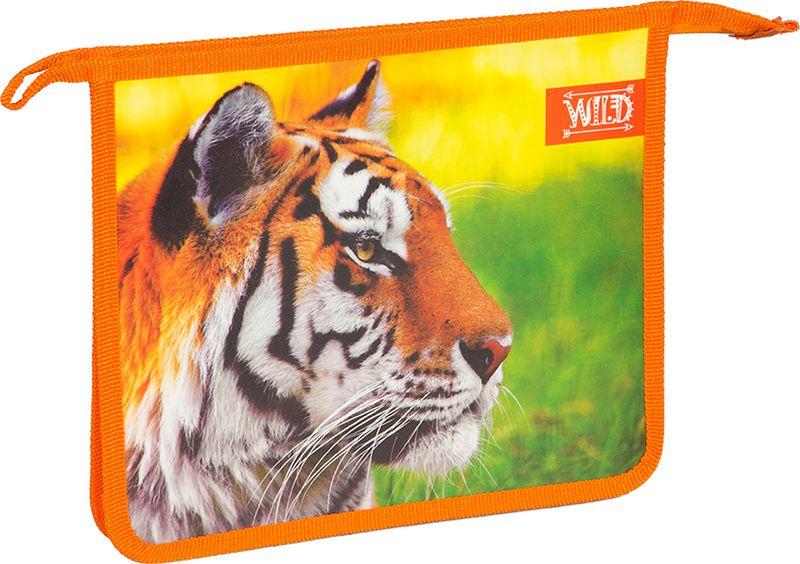 ArtSpace Папка для тетрадей Дикие кошки А5 на молнии цвет оранжевыйПТ-73_15533Папка из пластика на молнии с 1 отделением поможет в хранении и транспортировке тетрадей и листов формата А5.