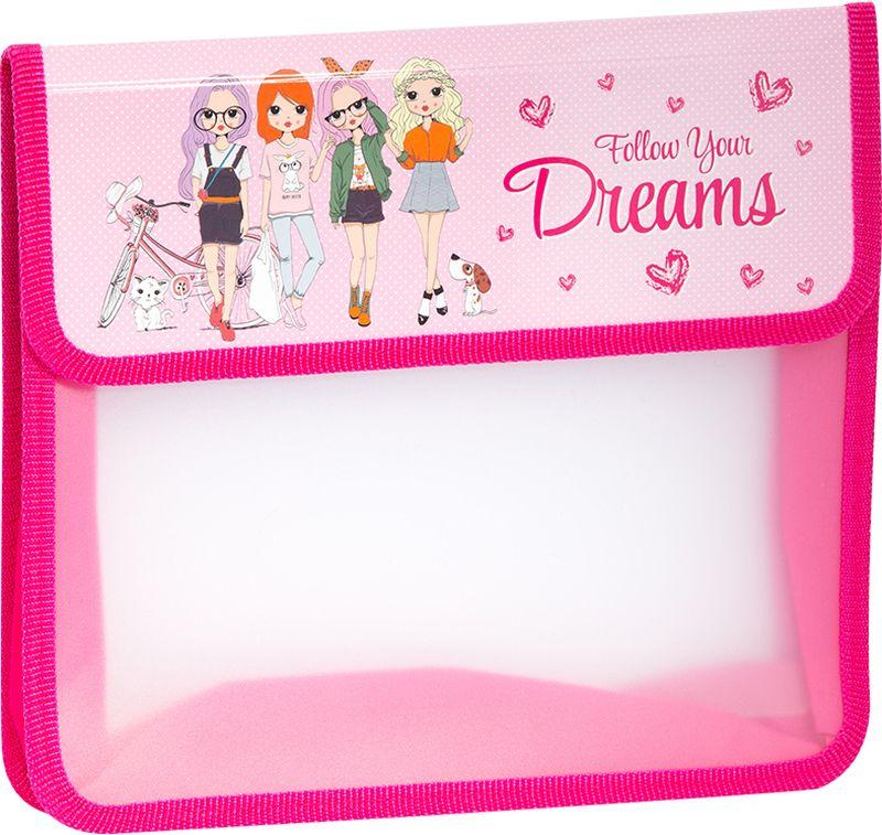 ArtSpace Папка для тетрадей Детские персонажи А5 2 отделения на липучке цвет розовыйПТ-95_16505Удобная папка для тетрадей, школьных канцелярских принадлежностей формата А5, имеет два отделения