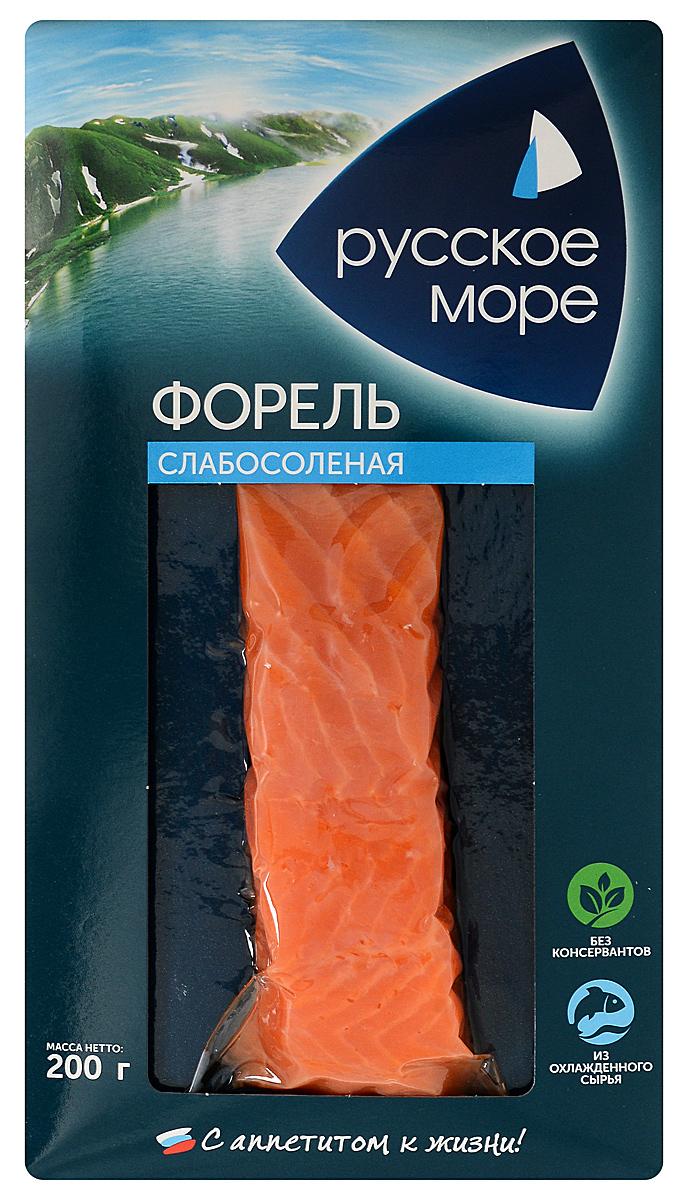 Русское Море Форель слабосоленая, филе, 200 г