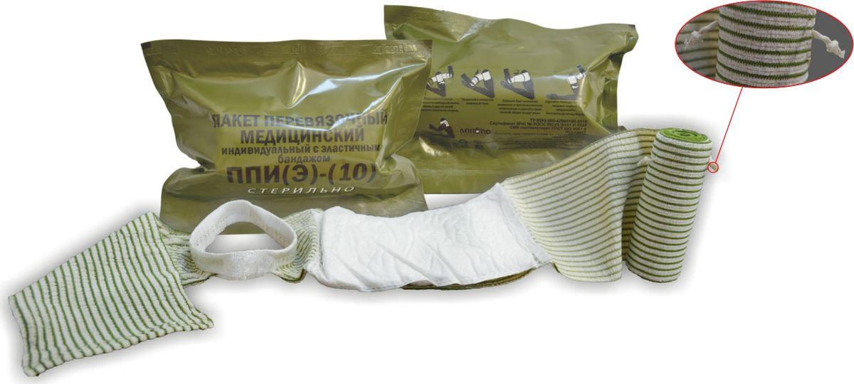 Апполо Пакет перевязочный медицинский индивидуальный с эластичным бандажом, с 1-й подушкойМС105013Предназначен для оказания первой само- и взаимопомощи пострадавшим в несчастных случаях, экстремальных ситуациях, предназначения для остановки сильных кровотечений, надежно закрывает рану, обеспечивает компрессию.Пакет перевязочный медицинский индивидуальный стерильный с эластичным бандажом - это современное перевязочное средство, которое состоит из неподвижной подушечки для наложения на рану, затяжной петли, фиксирующего эластичного бинта, страховочной и фиксирующей застежек-липучек. Является следующим после всем известного ИПП-1 поколением перевязочных средств и представляет собой аналог 6-дюймовой израильской компрессионной полевой перевязочной повязки (в просторечии - израильтянки). Преимущества: Совмещает в себе свойства бинта, давящей повязки и накладки на рану. Применяется для перевязки верхних и нижних конечностей, а также головы и других частей тела. Имеет компактные размеры, с легкостью помещается в походную аптечку. Упакован в двойную герметичную упаковку, стерильный.