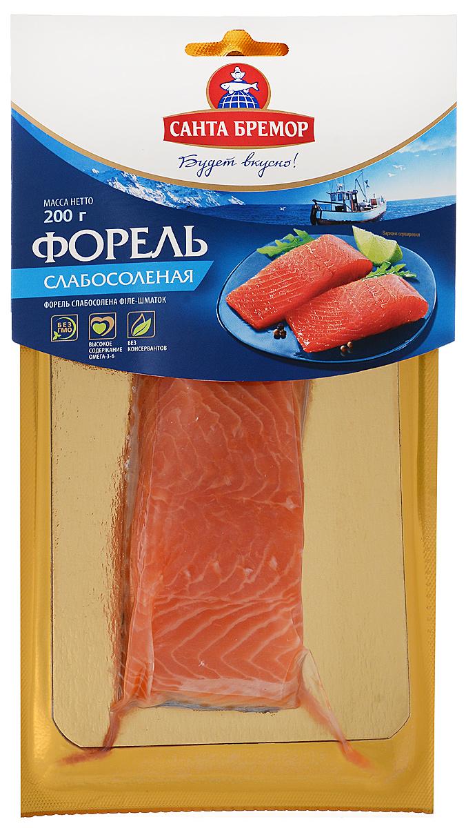 Санта Бремор Форель слабосоленая, филе, 200 г санта бремор крабовое мясо охлажденное 200 г
