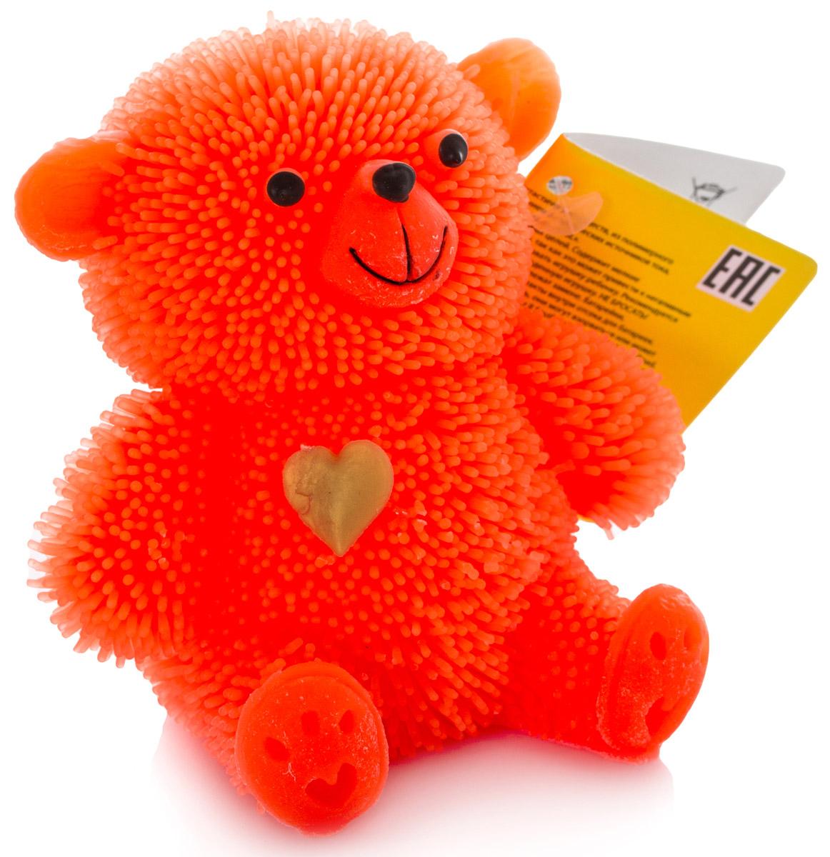 HGL Фигурка Медведь с подсветкой цвет коралловый hgl фигурка черепаха с подсветкой цвет ярко оранжевый