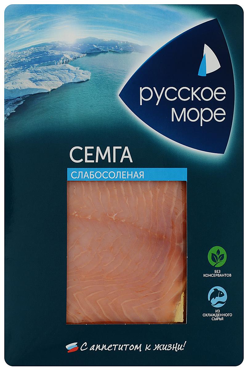 Русское Море Семга слабосоленая, ломтики, 120 г