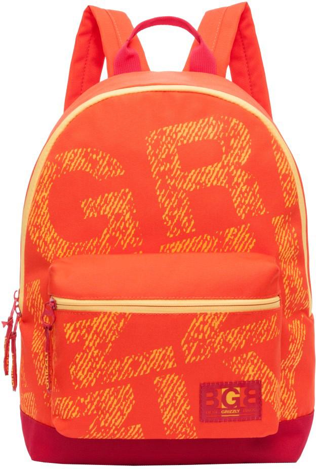 Рюкзак городской Grizzly, цвет: оранжевый. RL-850-3/2RL-850-3/2Рюкзак молодежный, одно отделение, объемный карман на молнии на передней стенке, внутренний карман для электронных устройств, укрепленная спинка, дополнительная ручка-петля, укрепленные лямки.
