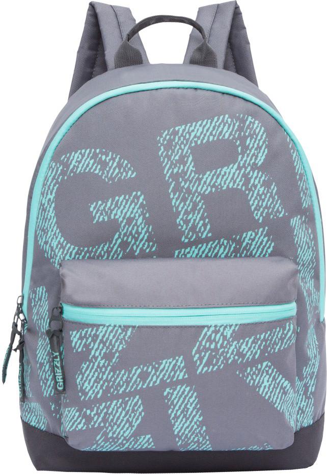 Рюкзак городской Grizzly, цвет: серый. RL-850-3/4RL-850-3/4Рюкзак молодежный, одно отделение, объемный карман на молнии на передней стенке, внутренний карман для электронных устройств, укрепленная спинка, дополнительная ручка-петля, укрепленные лямки.