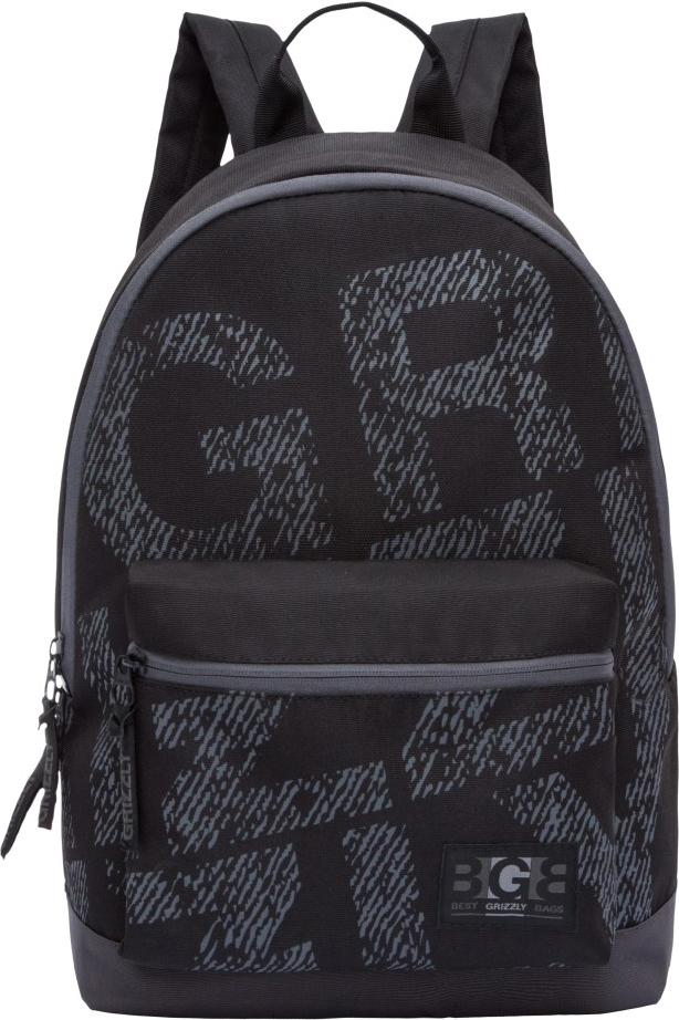 Рюкзак городской Grizzly, цвет: черный. RL-850-3/5RL-850-3/5Рюкзак молодежный, одно отделение, объемный карман на молнии на передней стенке, внутренний карман для электронных устройств, укрепленная спинка, дополнительная ручка-петля, укрепленные лямки.