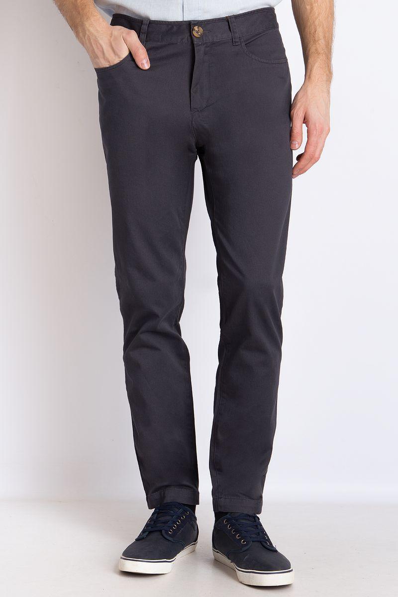 цена на Брюки мужские Finn Flare, цвет: темно-серый. B18-21019. Размер 3XL (56)