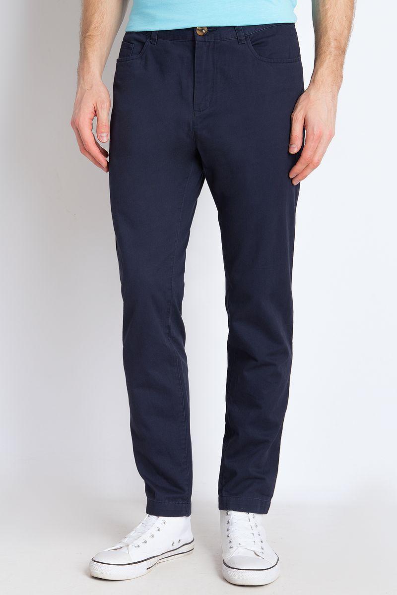 цена на Брюки мужские Finn Flare, цвет: темно-синий. B18-21019. Размер 3XL (56)