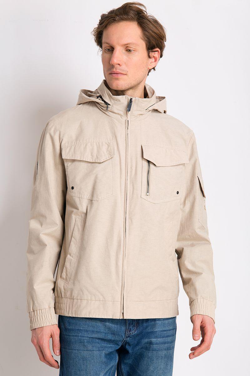 Куртка мужская Finn Flare, цвет: бежевый. B18-22001. Размер 4XL (58)