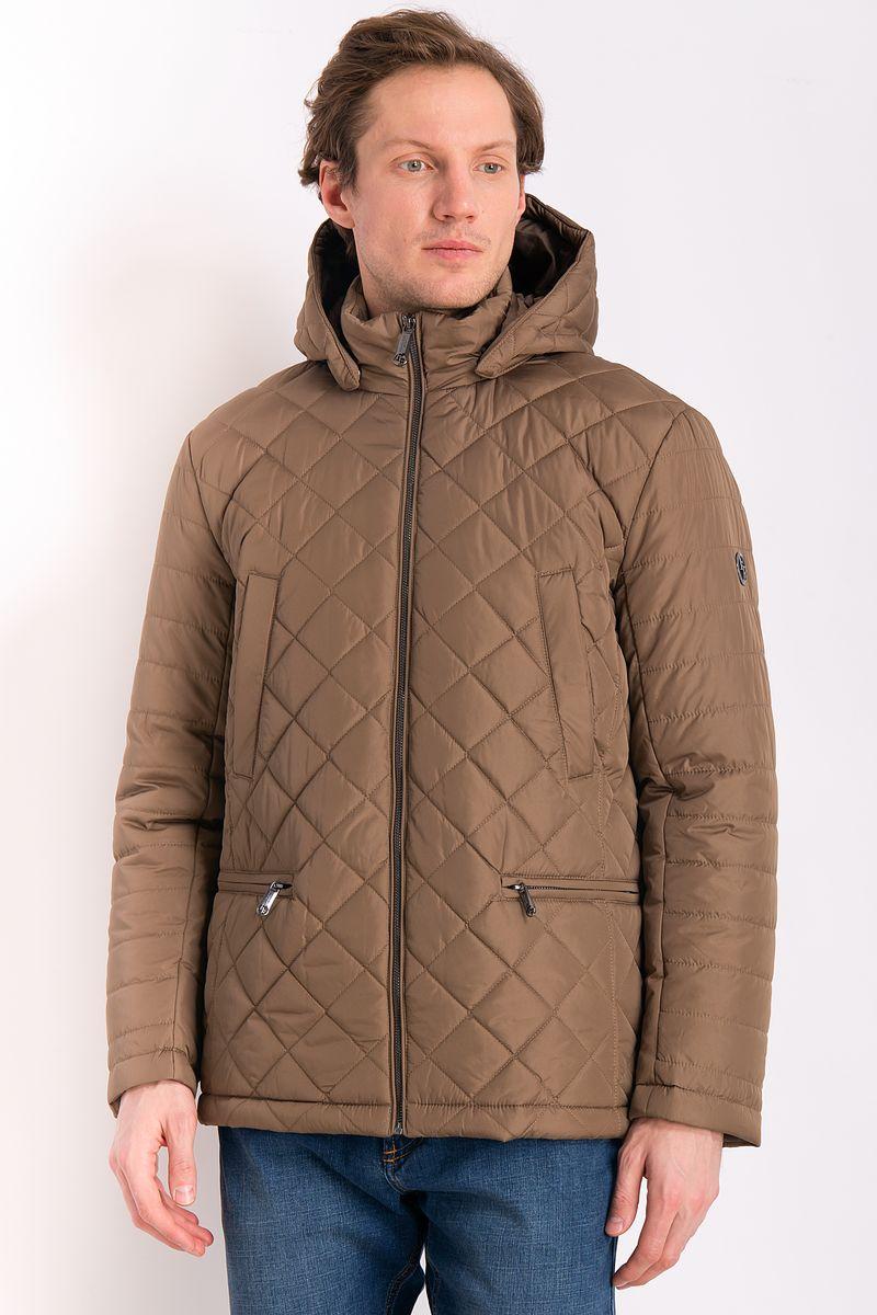 Куртка мужская Finn Flare, цвет: коричневый. B18-21000. Размер 4XL (58) рубашка мужская finn flare цвет голубой b18 21023 размер 4xl 58