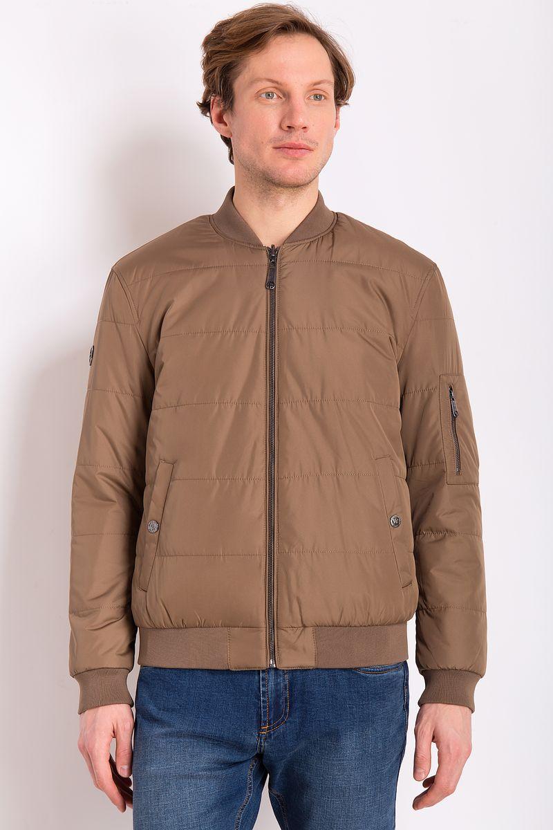 Куртка мужская Finn Flare, цвет: коричневый. B18-21001. Размер 3XL (56) style me up style me up набор для создания украшений браслеты мечты