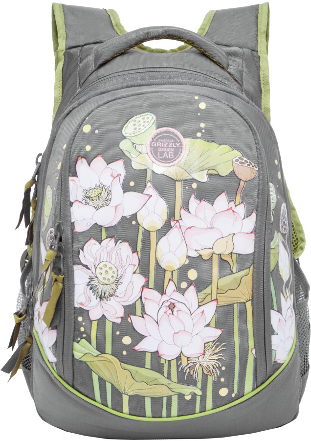 Рюкзак молодежный, три отделения, боковые карманы из сетки, внутренний карман на молнии, внутренний составной пенал-органайзер, укрепленная спинка, мягкая укрепленная ручка, укрепленные лямки.
