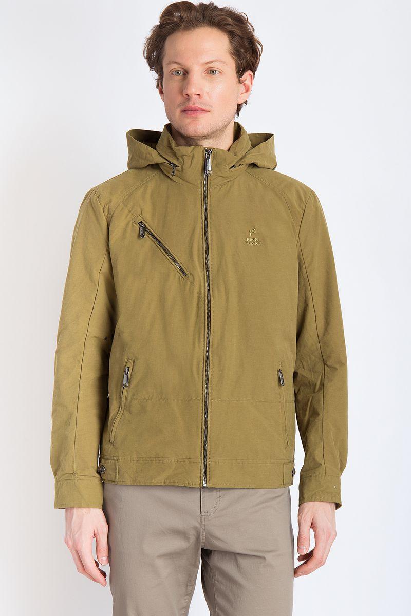 Куртка мужская Finn Flare, цвет: оливковый. B18-21010. Размер 3XL (56)