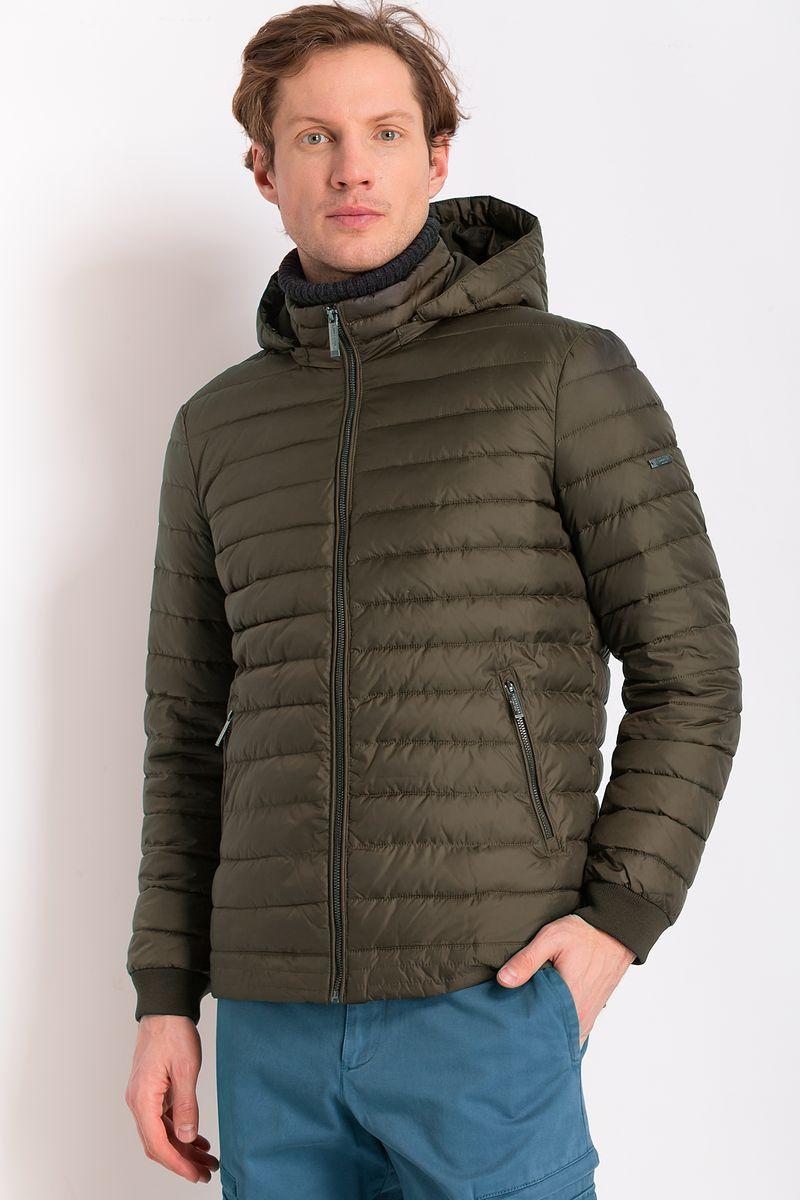 Куртка мужская Finn Flare, цвет: оливковый. B18-21016. Размер 4XL (58) рубашка мужская finn flare цвет голубой b18 21023 размер 4xl 58