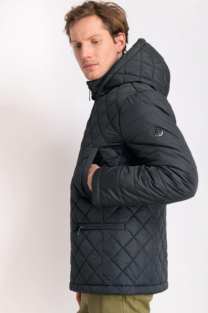 Куртка мужская Finn Flare, цвет: темно-серый. B18-21000. Размер M (48)B18-21000Утепленная куртка с капюшоном. Куртка прямого силуэта. Застегивается на молнию. Спереди два накладных кармана застегиваются на молнию, прорезные карманы без застежек. Куртка изготовлена их полиэстера.
