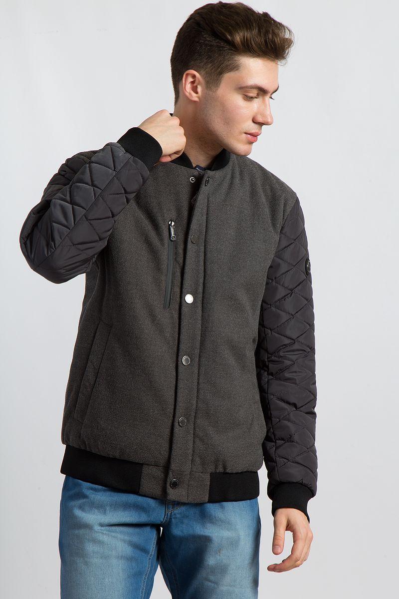 цена на Куртка мужская Finn Flare, цвет: темно-серый. B18-21004. Размер 3XL (56)