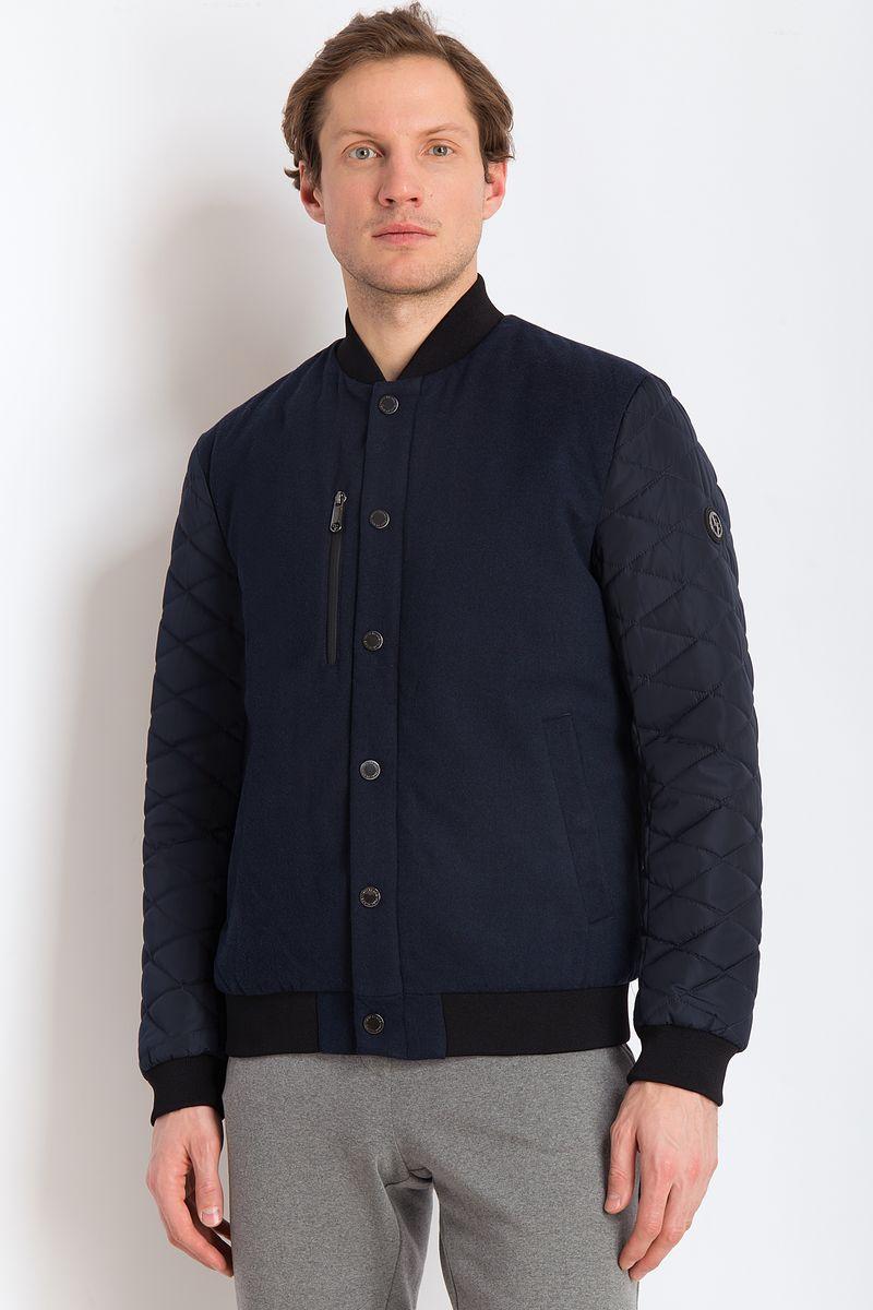 цена на Куртка мужская Finn Flare, цвет: темно-синий. B18-21004. Размер 3XL (56)