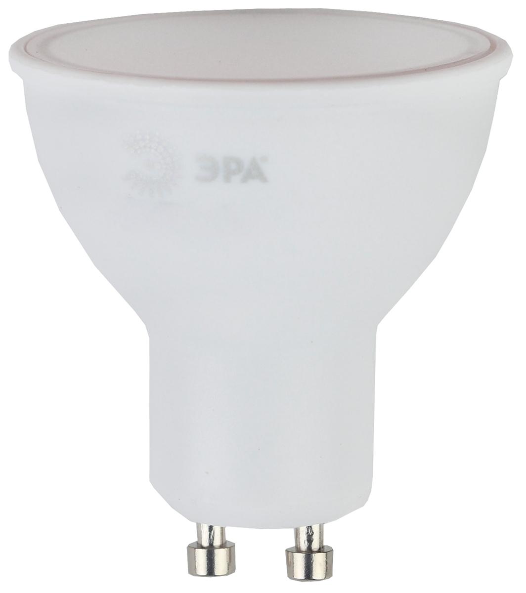 Лампа светодиодная ЭРА, цоколь GU10, 6W, 4000K. MR16-6w-840-GU10 лампа светодиодная маяк c30 e14 6w 4000k
