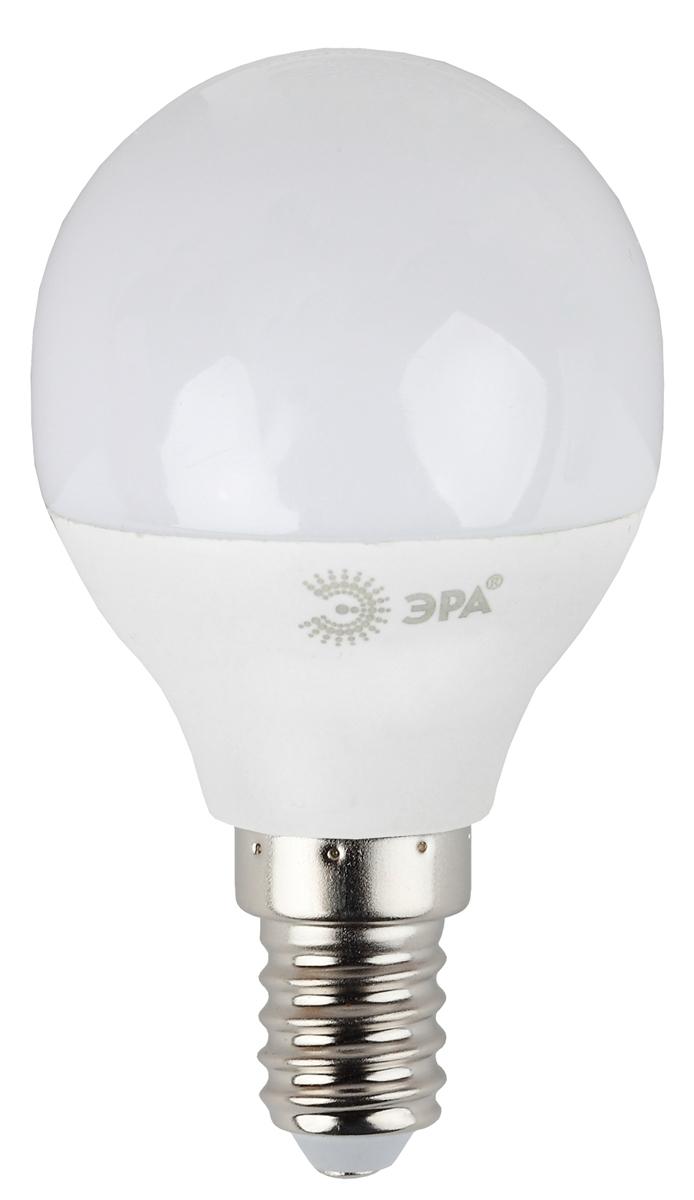 Лампа светодиодная ЭРА, цоколь E14, 7W, 2700K. P45-7w-827-E14 лампа светодиодная свеча эра b35 7w 827 e14 e14 7w 2700k