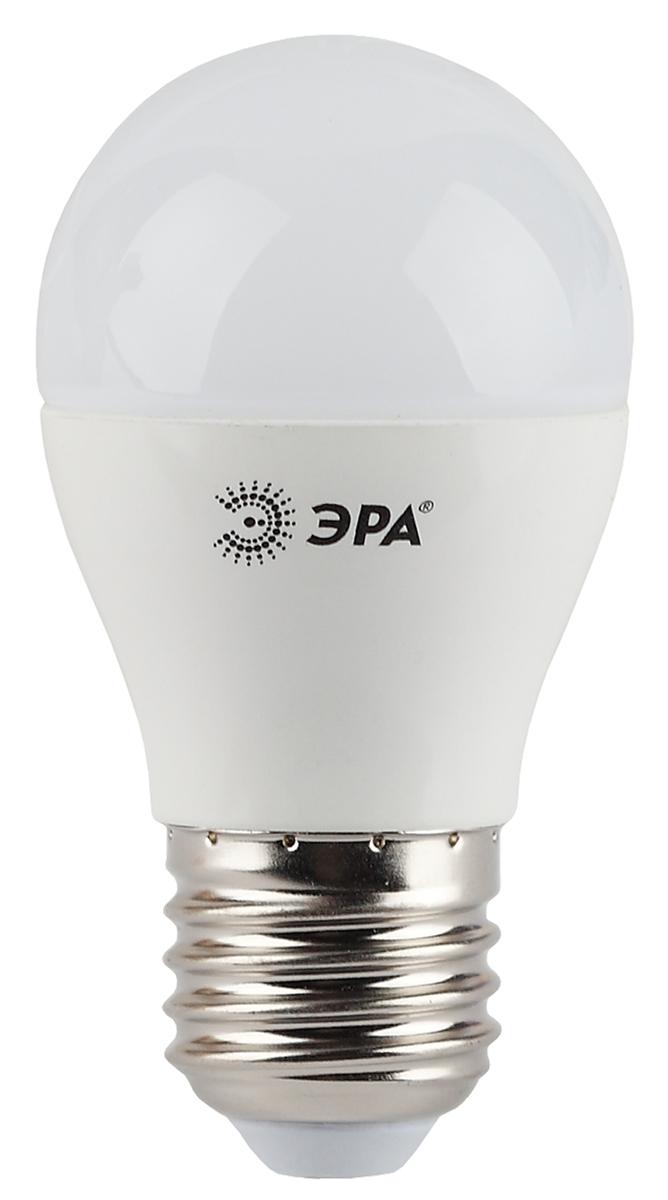 Лампа светодиодная ЭРА, цоколь E27, 7W, 2700K. P45-7w-827-E27 лампа светодиодная эра led smd bxs 7w 840 e14 clear