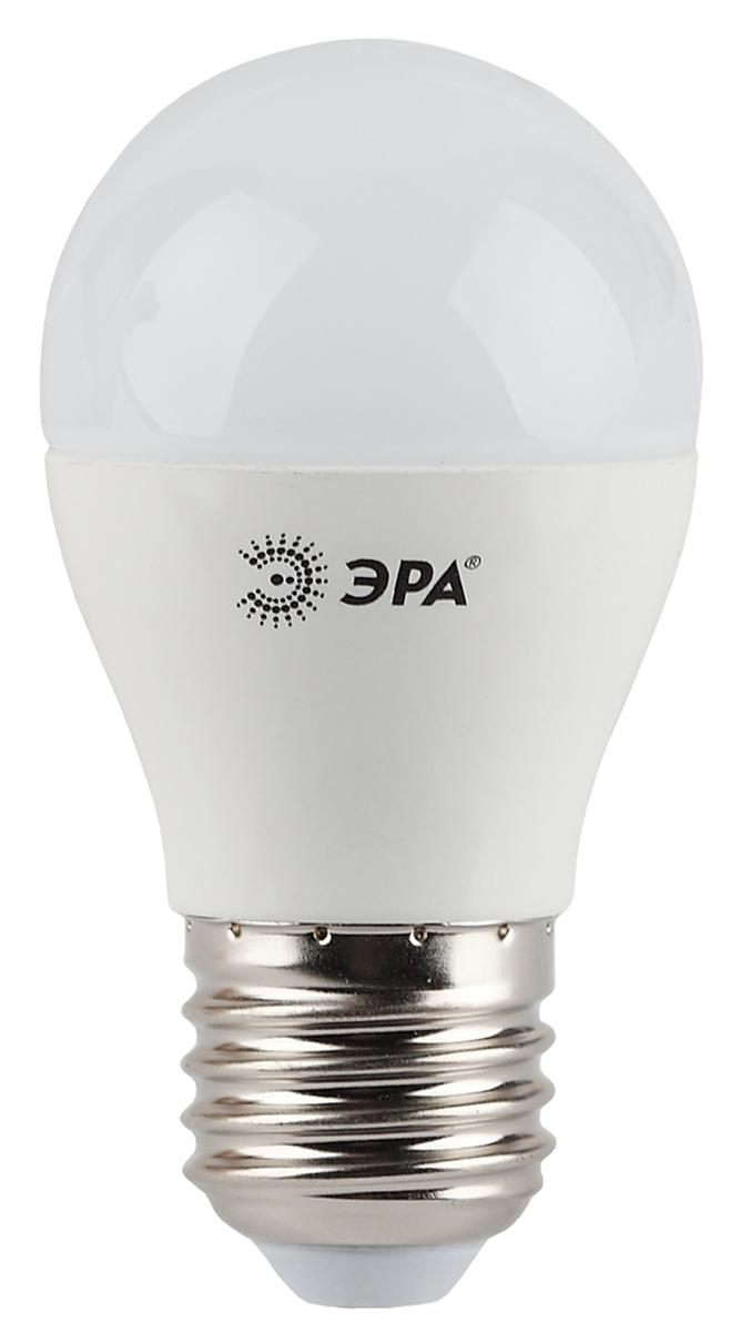 Лампа светодиодная ЭРА, цоколь E27, 5W, 4000K. P45-5w-840-E27 фонарь брелок эра 1xled с лазерной указкой