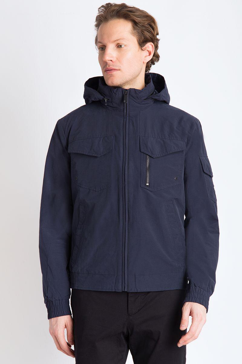Куртка мужская Finn Flare, цвет: темно-синий. B18-22001. Размер 4XL (58)