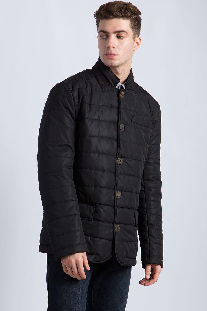 Куртка мужская Finn Flare, цвет: черный. B18-21012. Размер 3XL (56) куртка утепленная finn flare finn flare mp002xw1atgb
